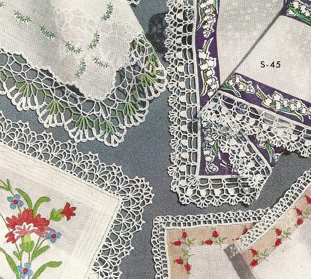 Free Vintage Crochet Edging Pattern : Vintage Crochet Edgings PDF pattern available for ...