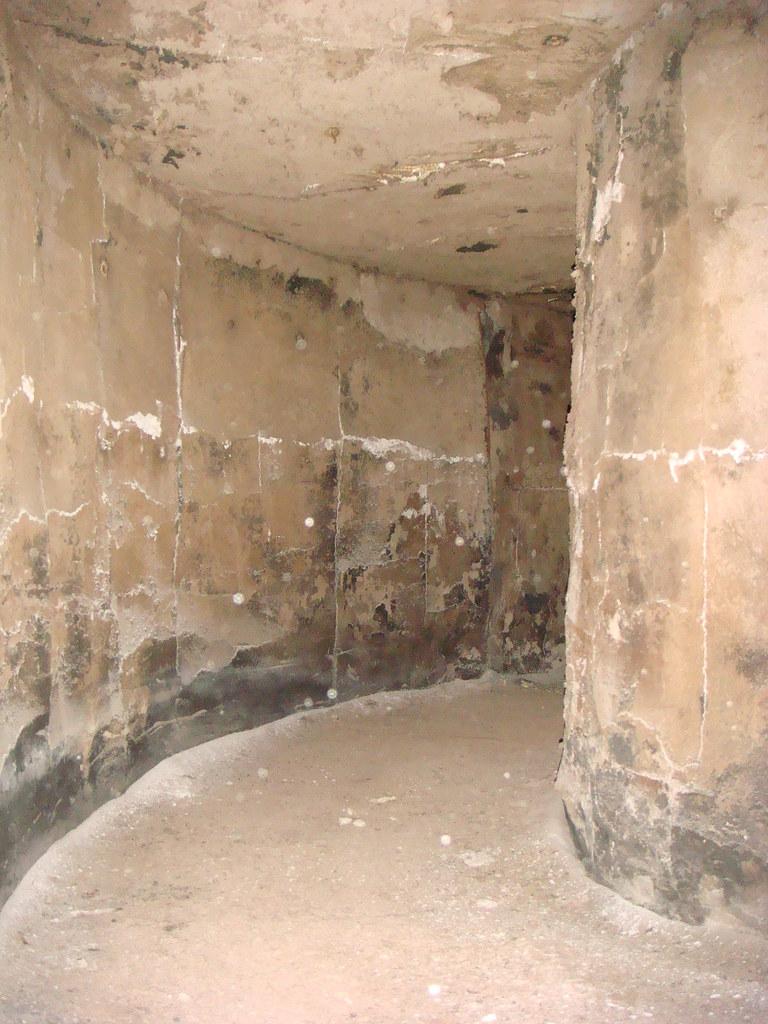 Asbestos Boiler Breeching   Interior of large, 3-ft ...