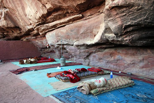 "our ""hotel room"" for the night, wadi rum 