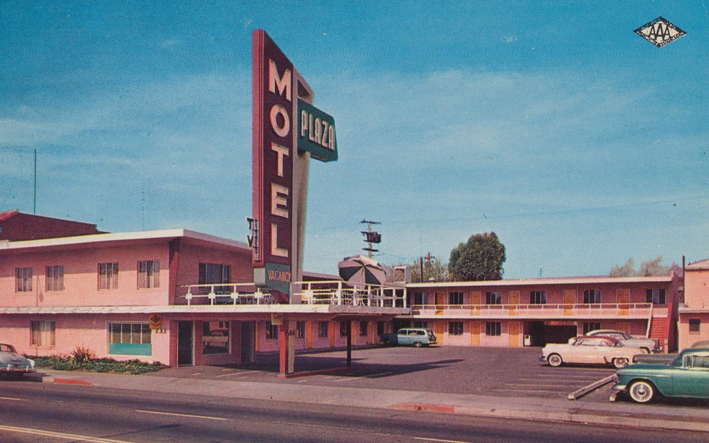Plaza Motel Fresno California 1940 Broadway Fresno