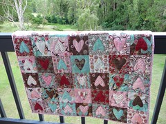 Chocolate Hearts Quilt | by M@rg sunshineparadise