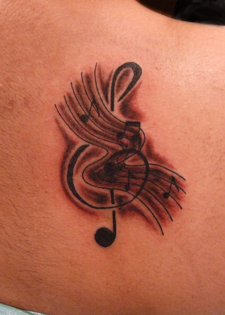 b Music Note Tattoo And Music Notes Tattoo