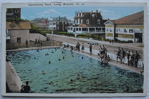 1930s LONG BRANCH New Jersey SWIMMING POOL