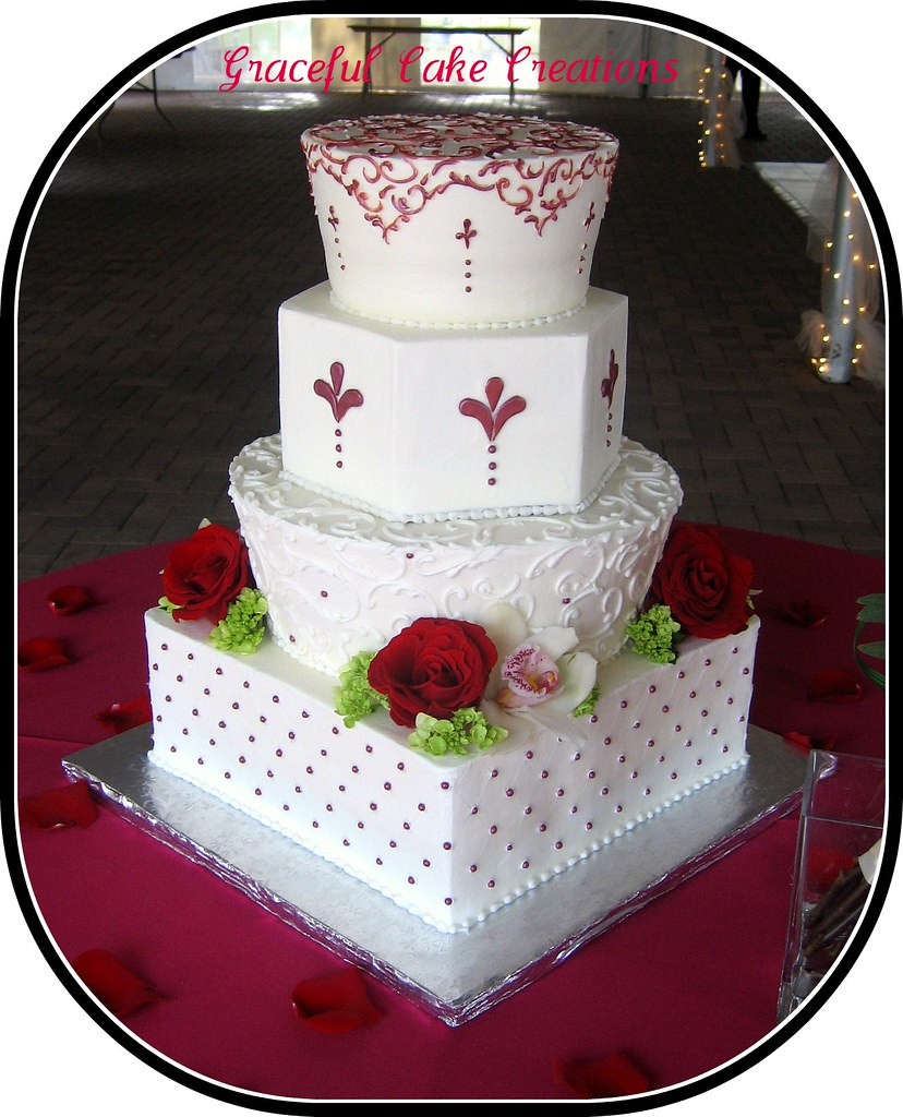 wedding cake red and white wedding cake grace tari flickr 23659