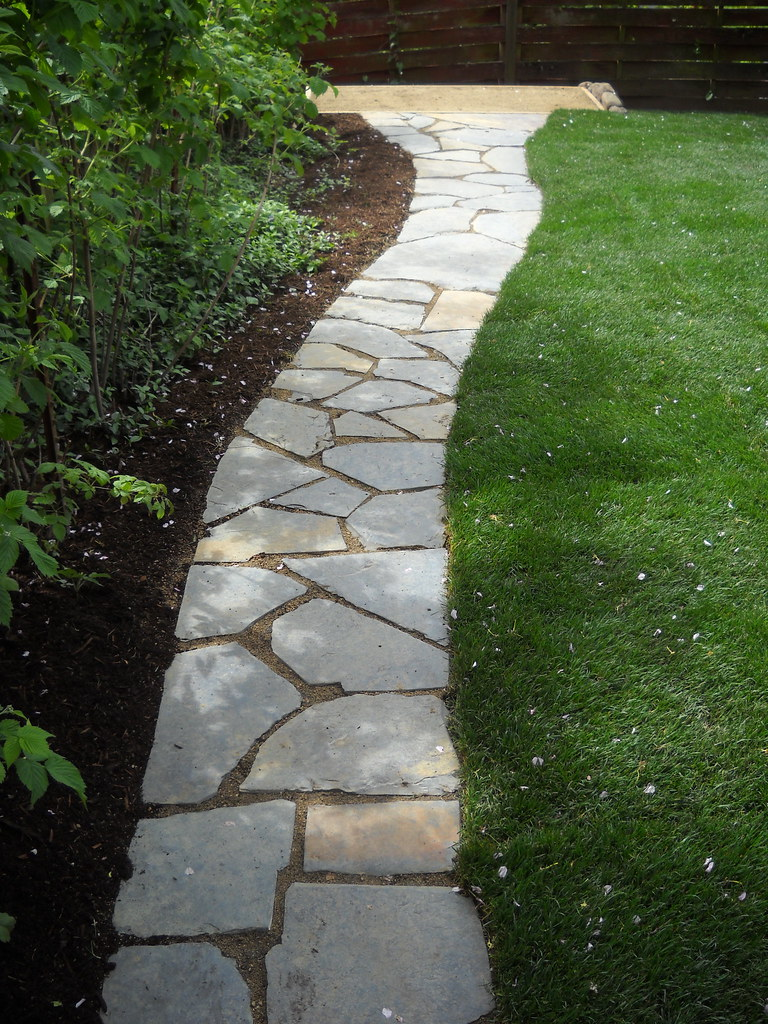 Iron Mountain Flagstone Walkway Linley Residence April