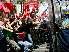 GREEKS PROTEST AUSTERITY CUTS | by PIAZZA del POPOLO