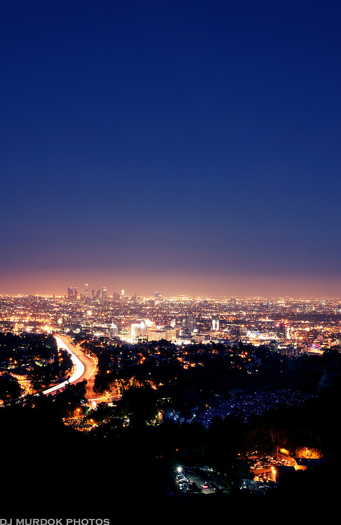 City Lights In The Distance Its A Big City Out There