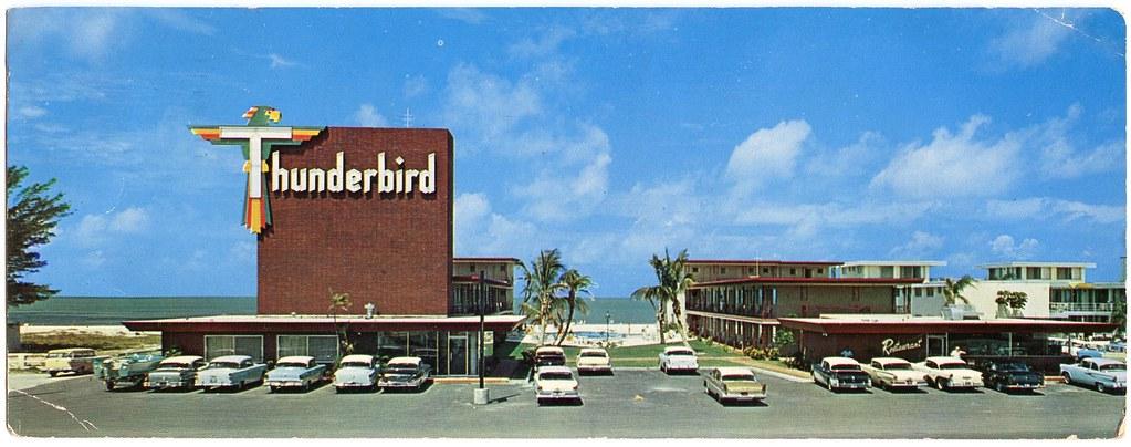 thunderbird motel built 1958 10700 gulf boulevard. Black Bedroom Furniture Sets. Home Design Ideas