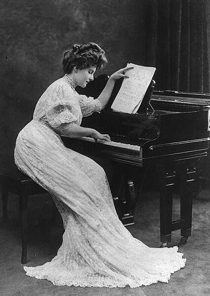 edwardian woman at piano eastlake victorian flickr