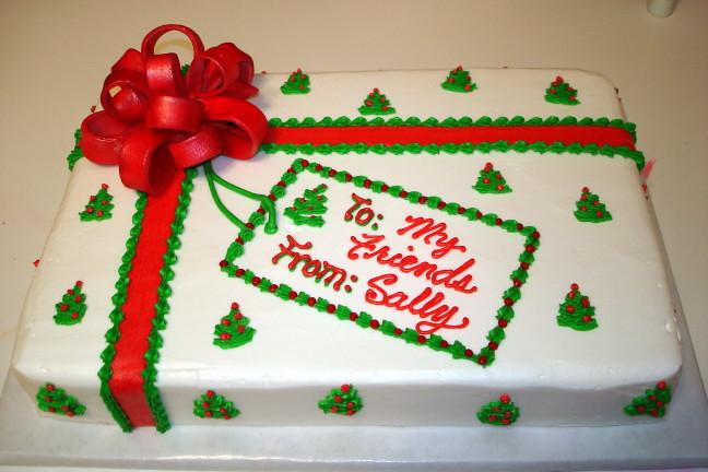 Fondant Bow Christmas Sheet Cake katyskakes Flickr