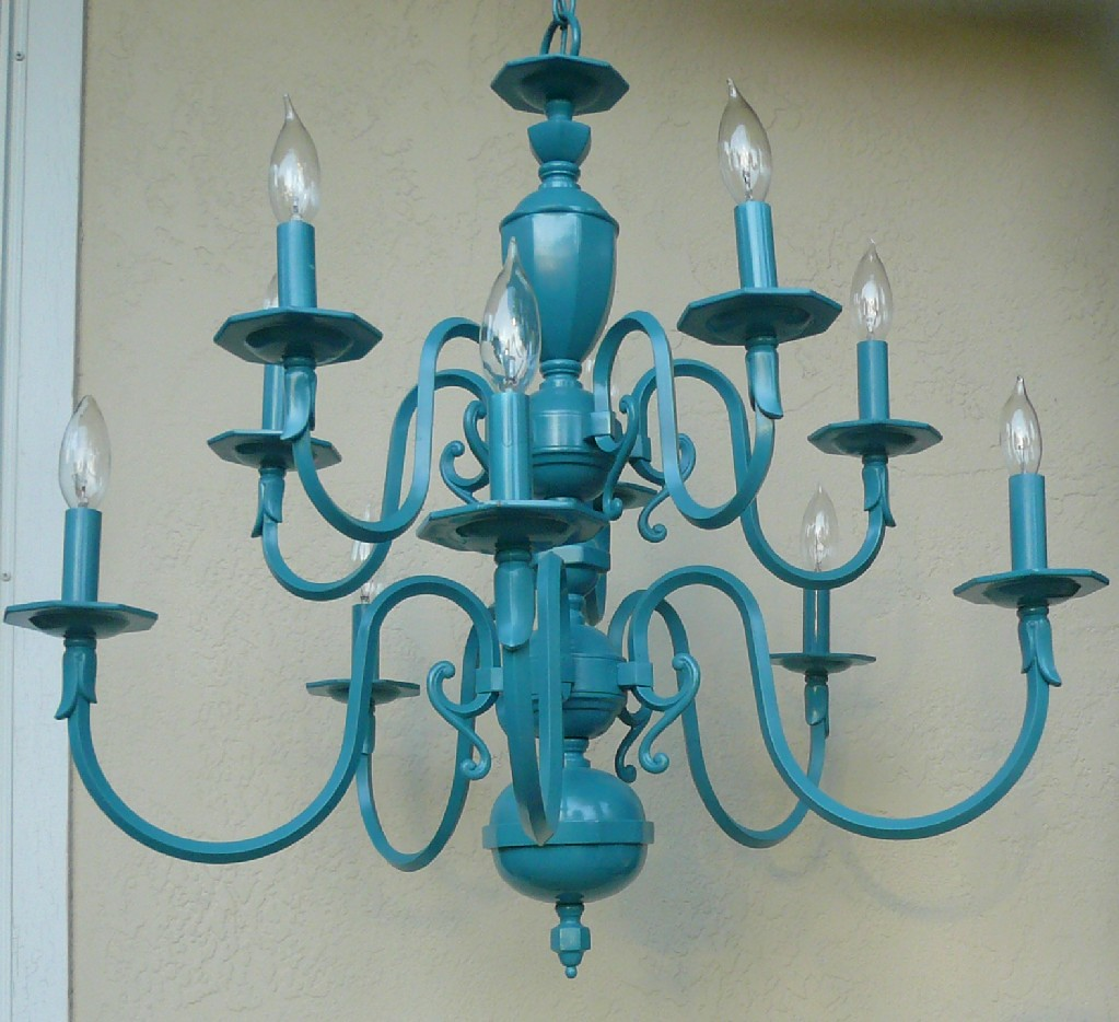 turquoise chandelier lighting. Vintage Turquoise Chandelier By Sideways Shop | Lighting