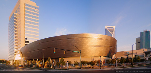 Nascar Hall Of Fame At Sunrise Pano | by Chris Laforêt