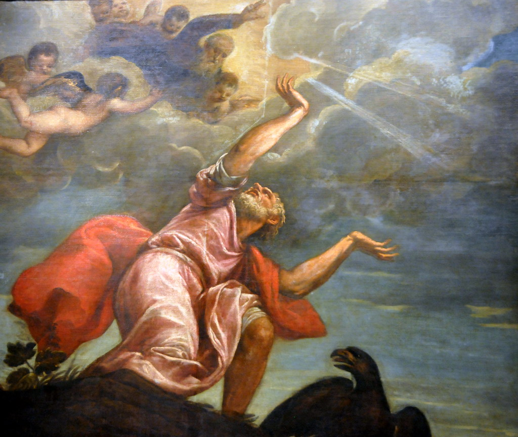 Image result for titian saint john the evangelist on patmos