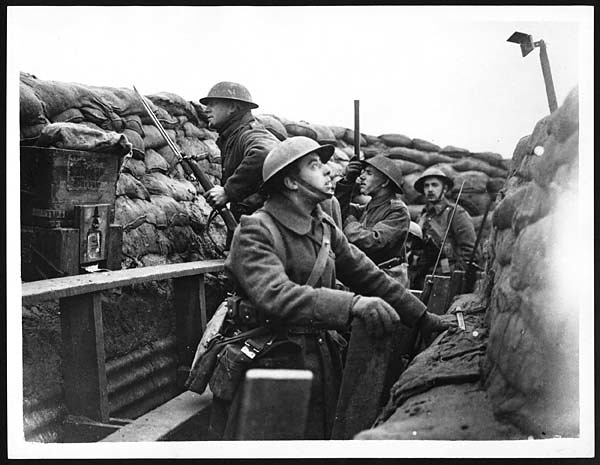 Watching A Slight Activity In A Boche Trench British