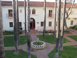 View of Belltower Building Courtyard from Terrace | by California State University Channel Islands