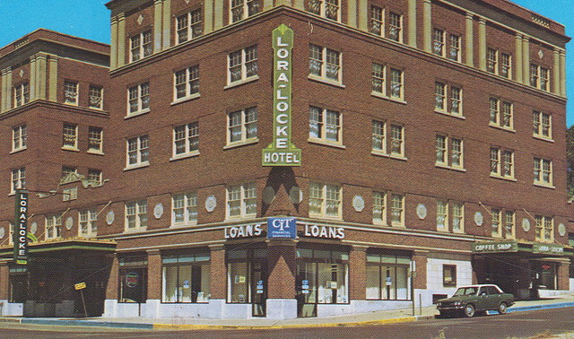 Dodge City Ks Downtown View Stores Businesses Lora Lock Hotel Coffee Shop Movie Theater Bank