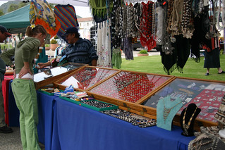 Jewelry vendor at Dolphin Days | by California State University Channel Islands