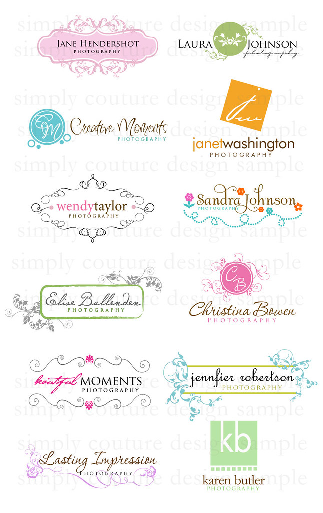Boutique Style Pre-made Logos Set 4 : Introducing our new se ...