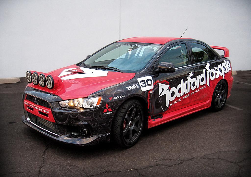 Rockford Fosgate Mitsubishi Lancer Evo Rally Car Flickr