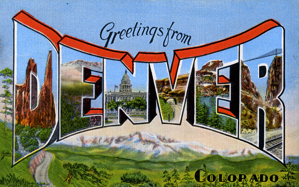 Image result for denver postcards