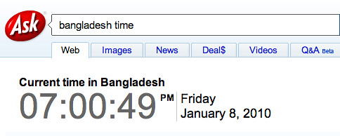 Ask: Time in Bangladesh | by rustybrick