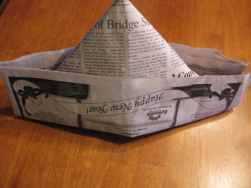 I wear my newspaper hat | by katerha