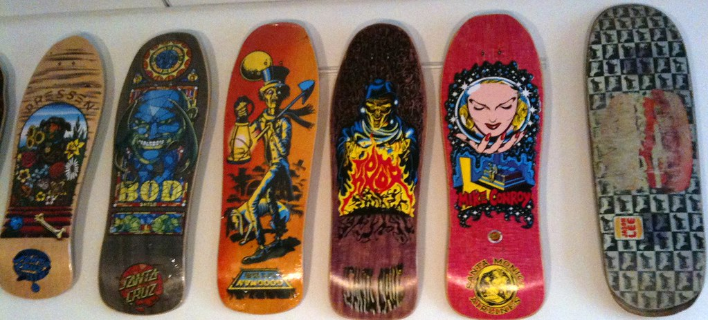 Can vintage skate boards