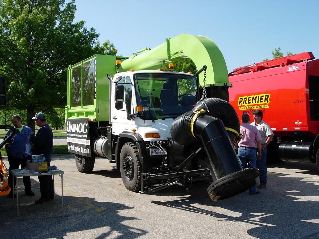 Unimog Leaf Vacuum Truck A Unimog Vehicle With Dinkmar