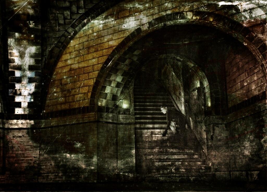 abandoned IRT City Hall Subway Station stairwell | taken man ...