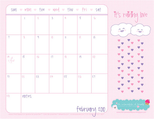 Calendar Template Girly