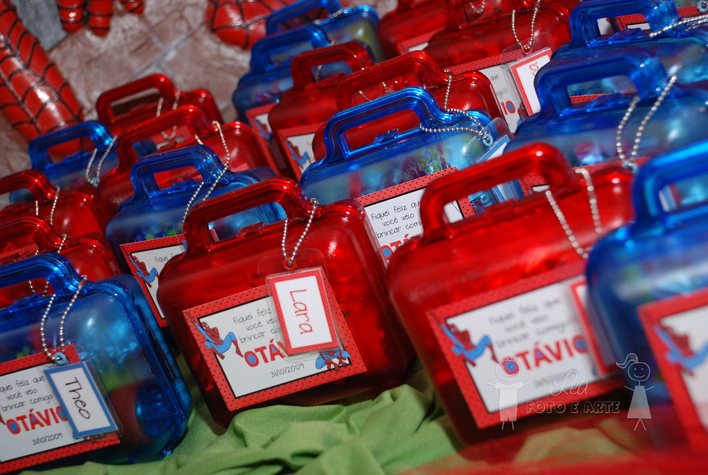 Adesivo Para Geladeira Retro ~ Lembrancinha Homem Aranha Maletinha com adesivo e tag pers u2026 Flickr