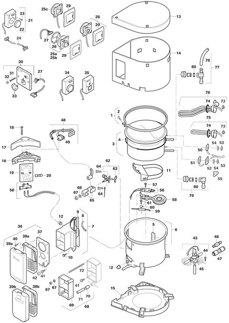 Truma Ultrastore Parts Illustration Boiler
