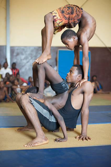 Conakry is the capital of Guinea, a country in West Africa and the Keita Fodeba Centre for Acrobatic Arts in Conakry, Guinea produces some of Africa's most talented acrobats and contortionists.