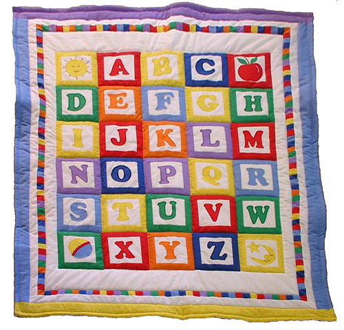 Handmade Baby Quilt Alphabet Blocks Order Our 100