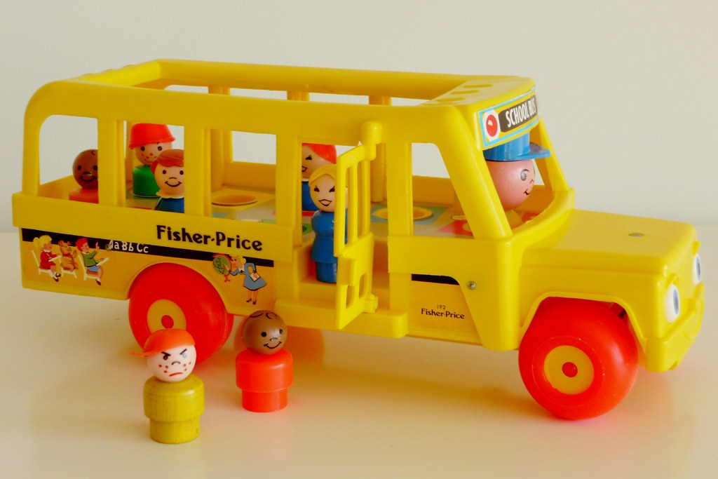 fisher price bus fisher price little people are characters flickr. Black Bedroom Furniture Sets. Home Design Ideas