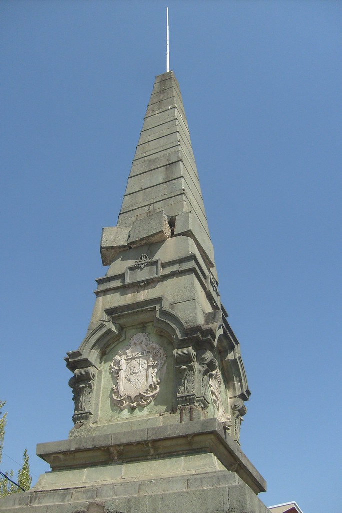 Monumento a la bandera en talca marzo de 2010 sus piedras - Baneras de piedra ...