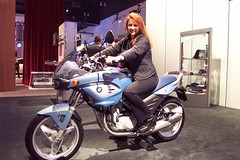 Mary Cummins on BMW at show | by Mary Cummins