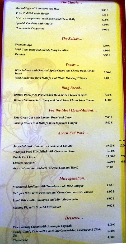 Montana Restaurant Menu Prices