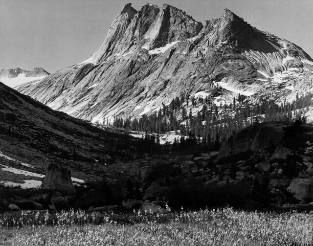 Ansel adams the mural project 1941 1942 big bird peak for Ansel adams the mural project