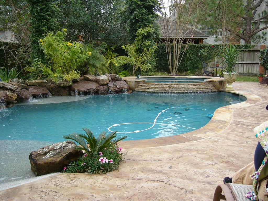 Platinum Pools 12 Raised Spa With Large Rocks Used For