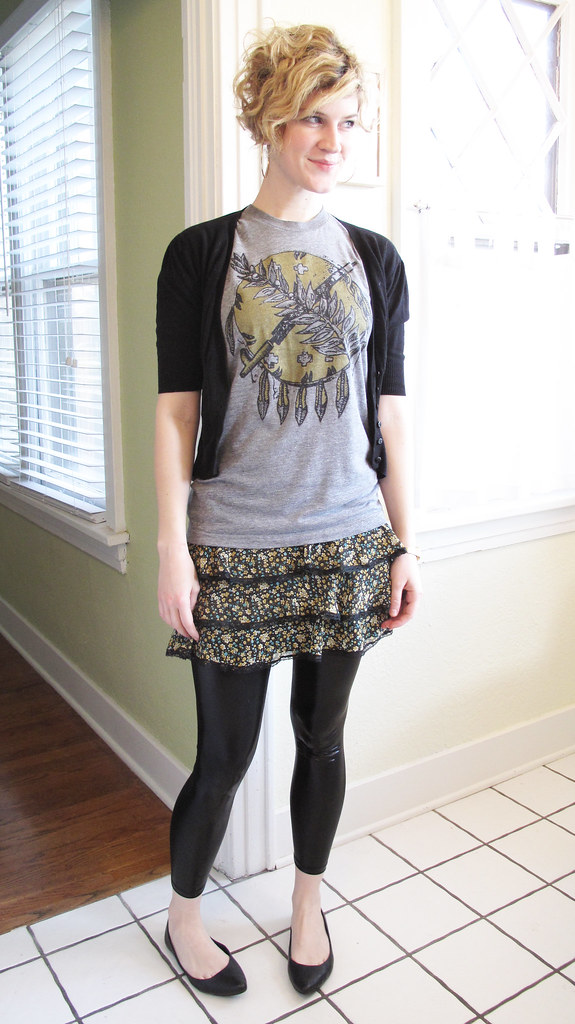 Skirt with Leggings and Flats