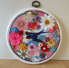 swallow embroidery | by kitsch&curious