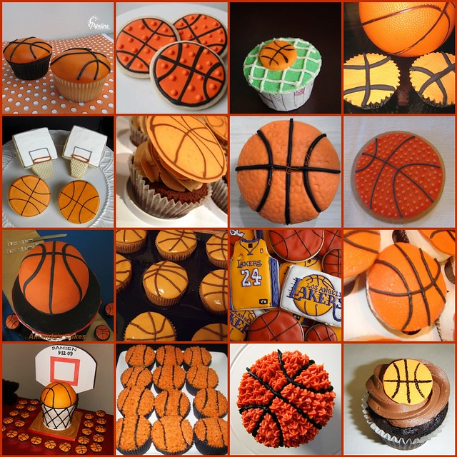 Basketball Decorated Cupcakes