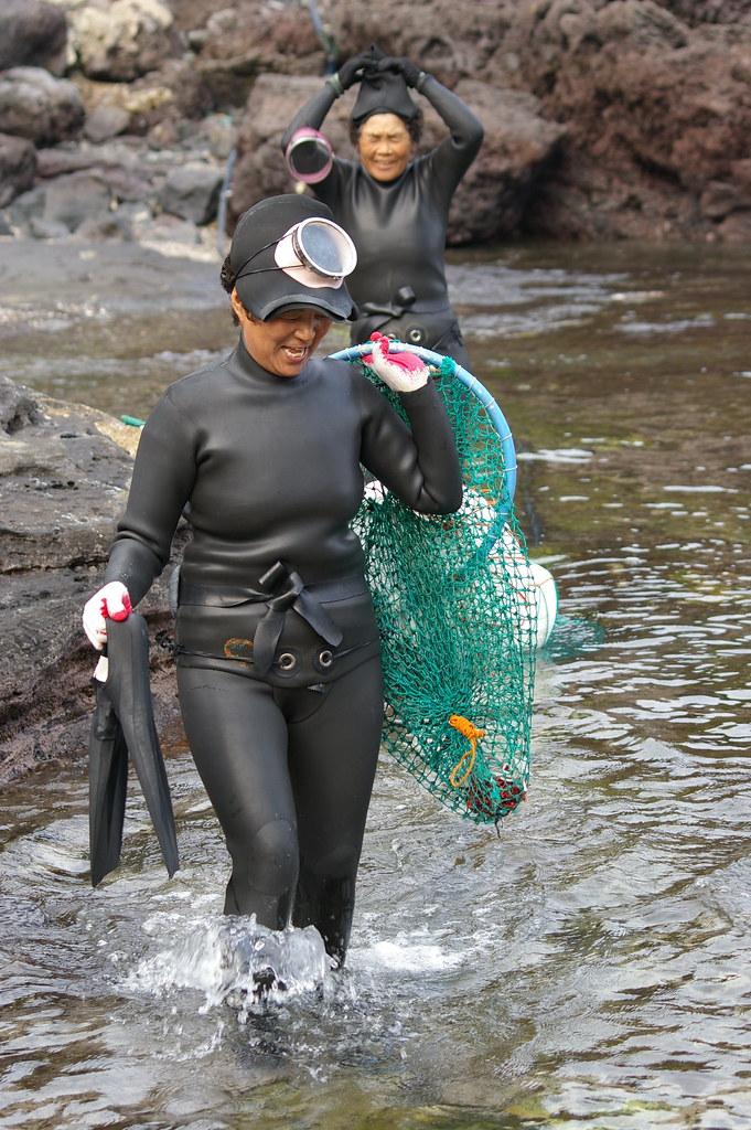 Haenyo (Sea Women), Jeju, South Korea