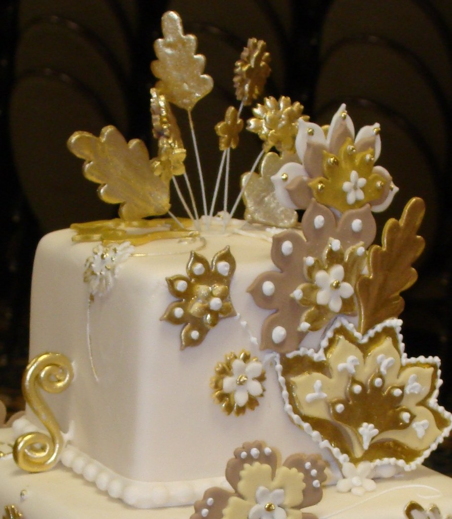 Gold Birthday Cake Cakeido Flickr