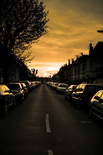 Dusk in St Albans Road