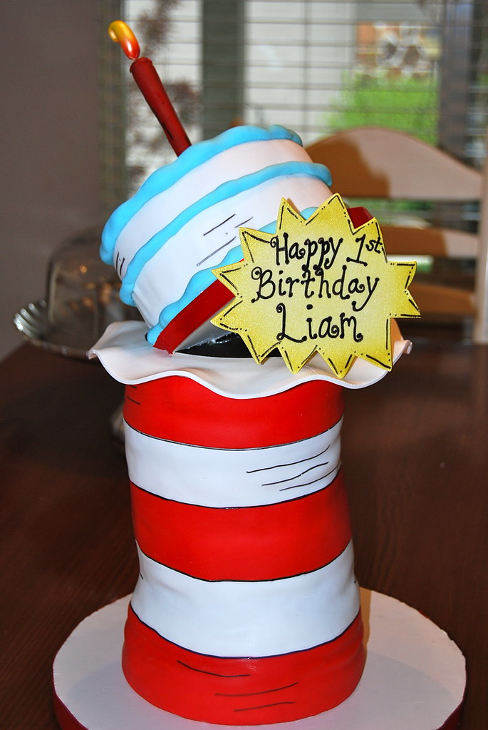 Dr Seuss First Birthday Cake Elisha Shibuya Flickr