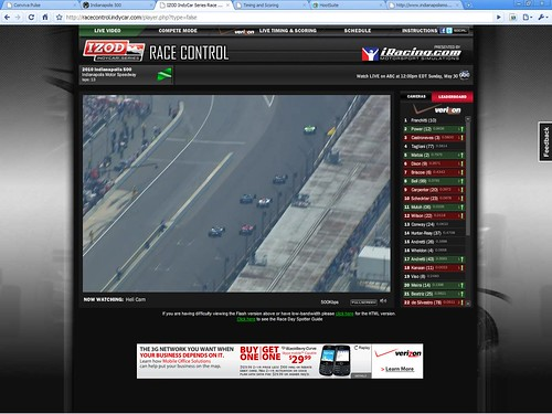 Helicam and movement on leaderboard | by IndyCar Series