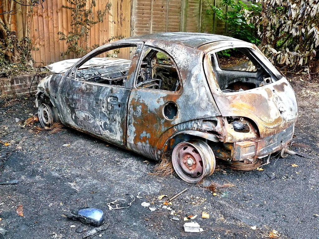 Ford Ka Burnt Out By Andrew