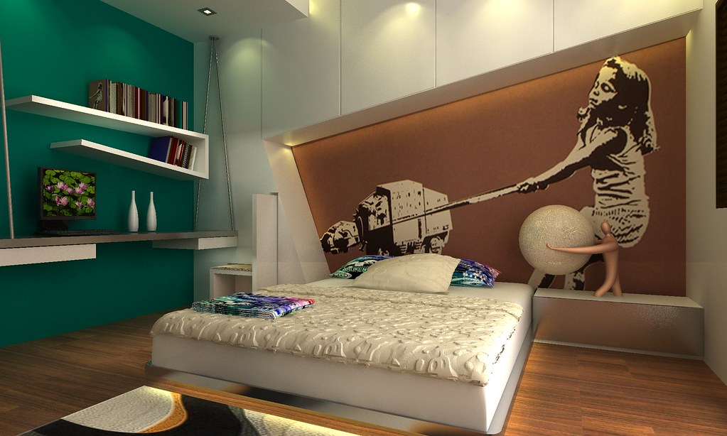 Funky Bedroom Design by connieyinbaby Funky